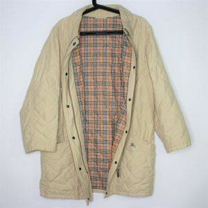 VTG Burberry Burberrys Nova Plaid Jacket F663